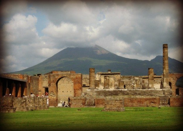 Mt. Vesuvius looms over Pompeii