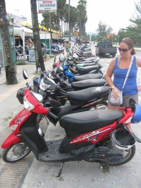 Scooter rental in Phuket Thailand