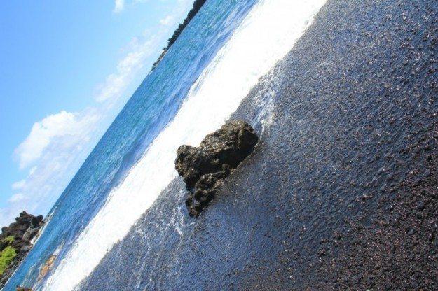 Road to Hana Wai'anapanapa State Park Black Sand Beach Maui