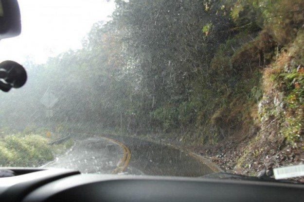 Road to Hana Stops - Paia Rain Storm