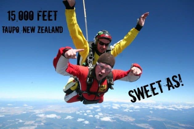 Taupo Tandem Skydiving -adventure bucket list