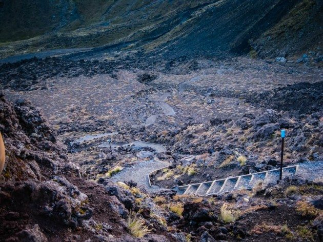 Tongariro Crossing New Zealand - Devils Staircase