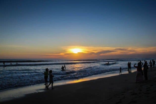 Culture Shock Bali Sunset Kuta Beach