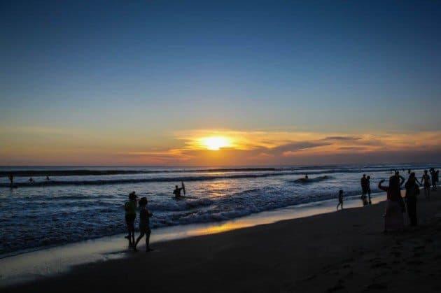 Kuta Sunset Beach Bali Indonesia