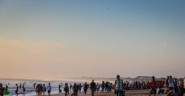 Kuta Sunset Bali Beach