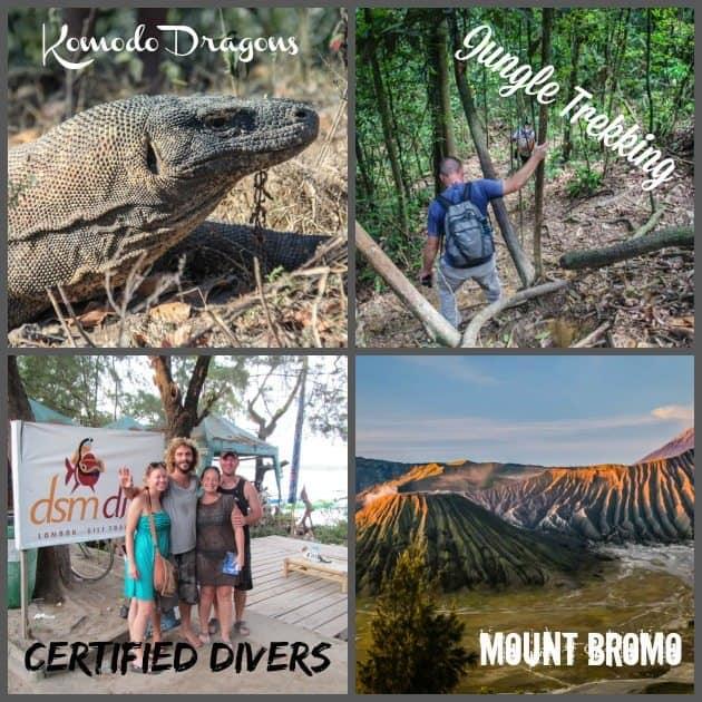 RTW Recap Komodo Dragons Mount Bromo