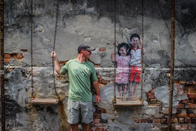 Georgetown Street Art Penang Malaysia Divergent Travelers