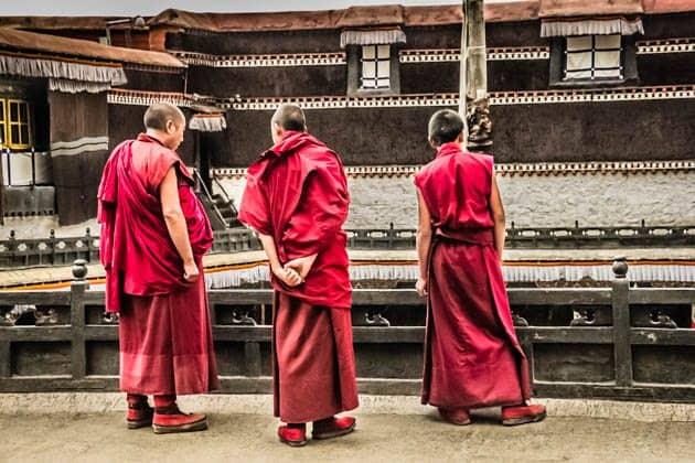 Tashilhunpo Monastery Tibet Monks Lhasa to Shigatse
