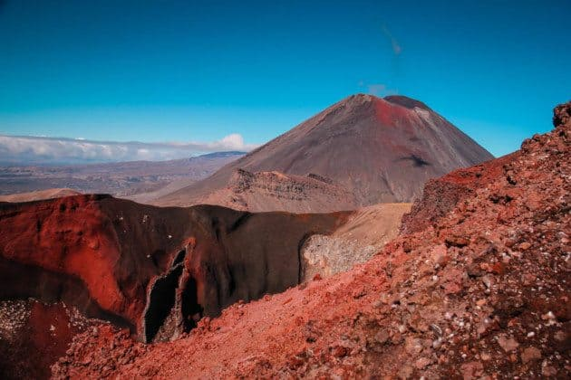 Red Crater Tongariro Crossing New Zealand