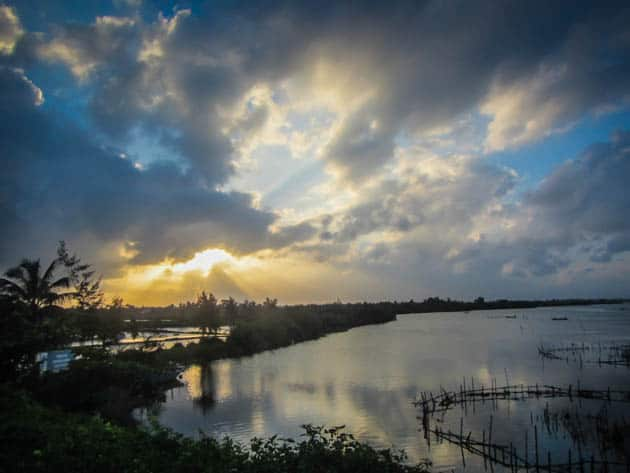Sunset River Vietnam