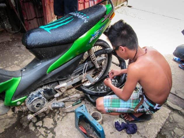 Flat Tire Bohol Philippines