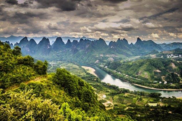 Karst Mountains Yangshuo China