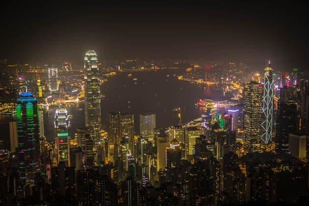 Hong Kong Skyline Victory Peak