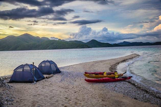 Beach Camping North Palawan Philippines