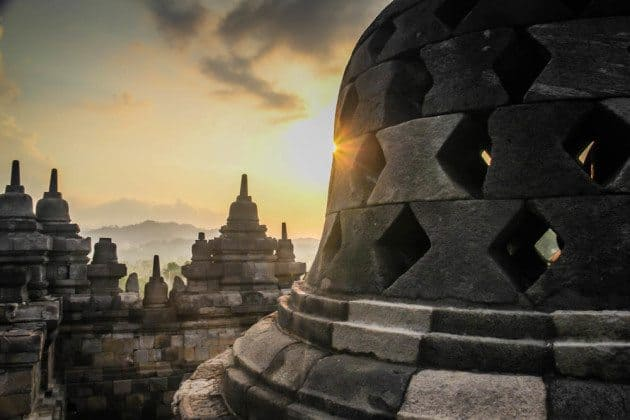 Borobodur Sunset Indonesia