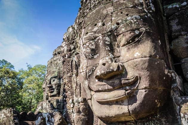 Bayon Faces Temple Cambodia
