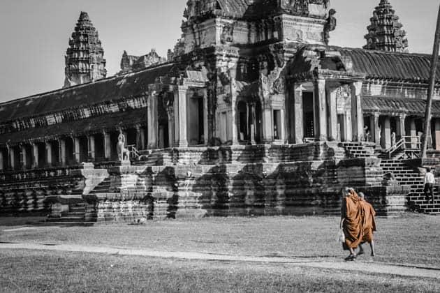 Monks Angkor Wat Cambodia