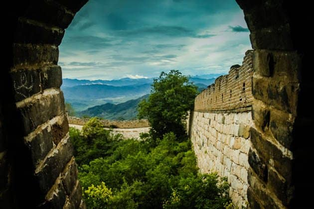 Great wall of China window