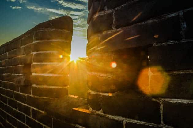 Great Wall of China Sunrise China