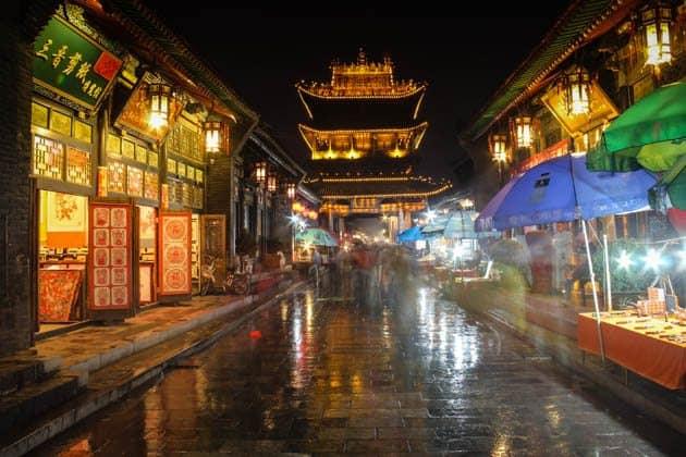 Night street Pingyao China