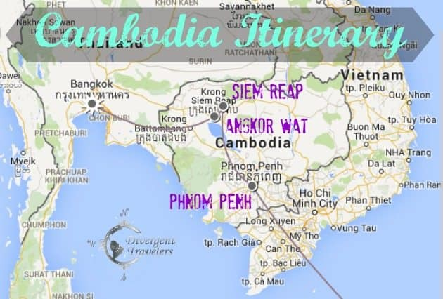 Cambodia Travel Itinerary Divergent Travelers