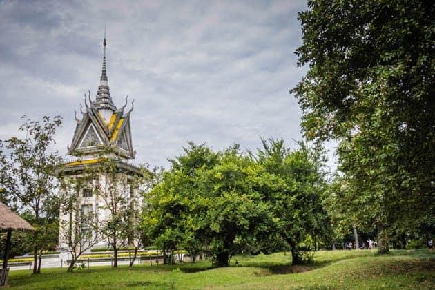 Memorial Stupa Choeung Ek Killing Field Cambodia