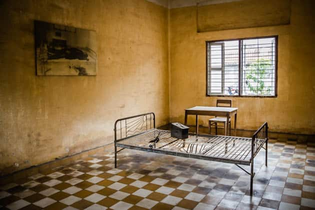Cell Tuol Sleng Genocide Museum Cambodia