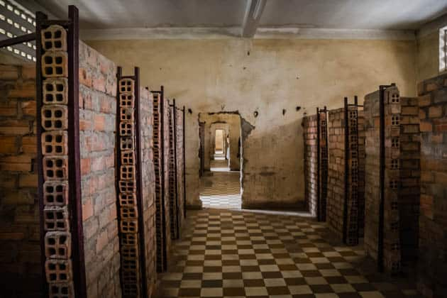 Detention Cells Tuol Sleng Genocide Museum Cambodia