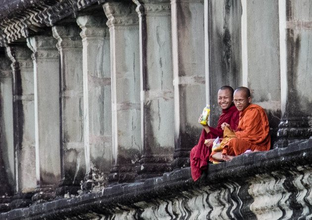RTW Travel Cambodia Monks Angkor Wat