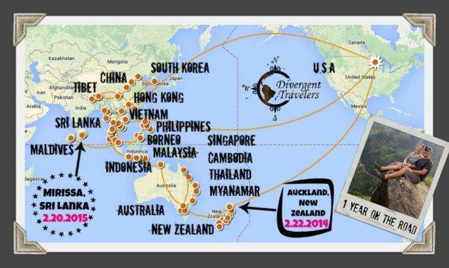 1 Year RTW Travel Recap Divergent Travelers