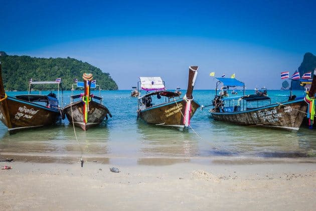 Complete Guide to the Phi Phi Islands Long Tail boats