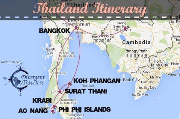 RTW Thailand Itinerary Divergent Travelers