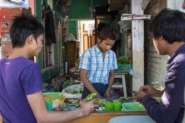 Betel Nut Chew Myanmar