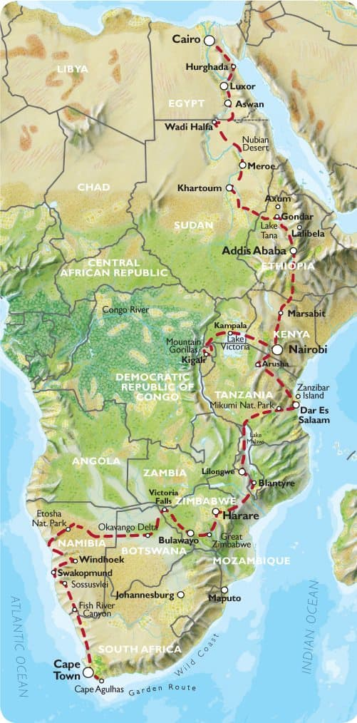 Cape Town to Cairo Oasis Overland