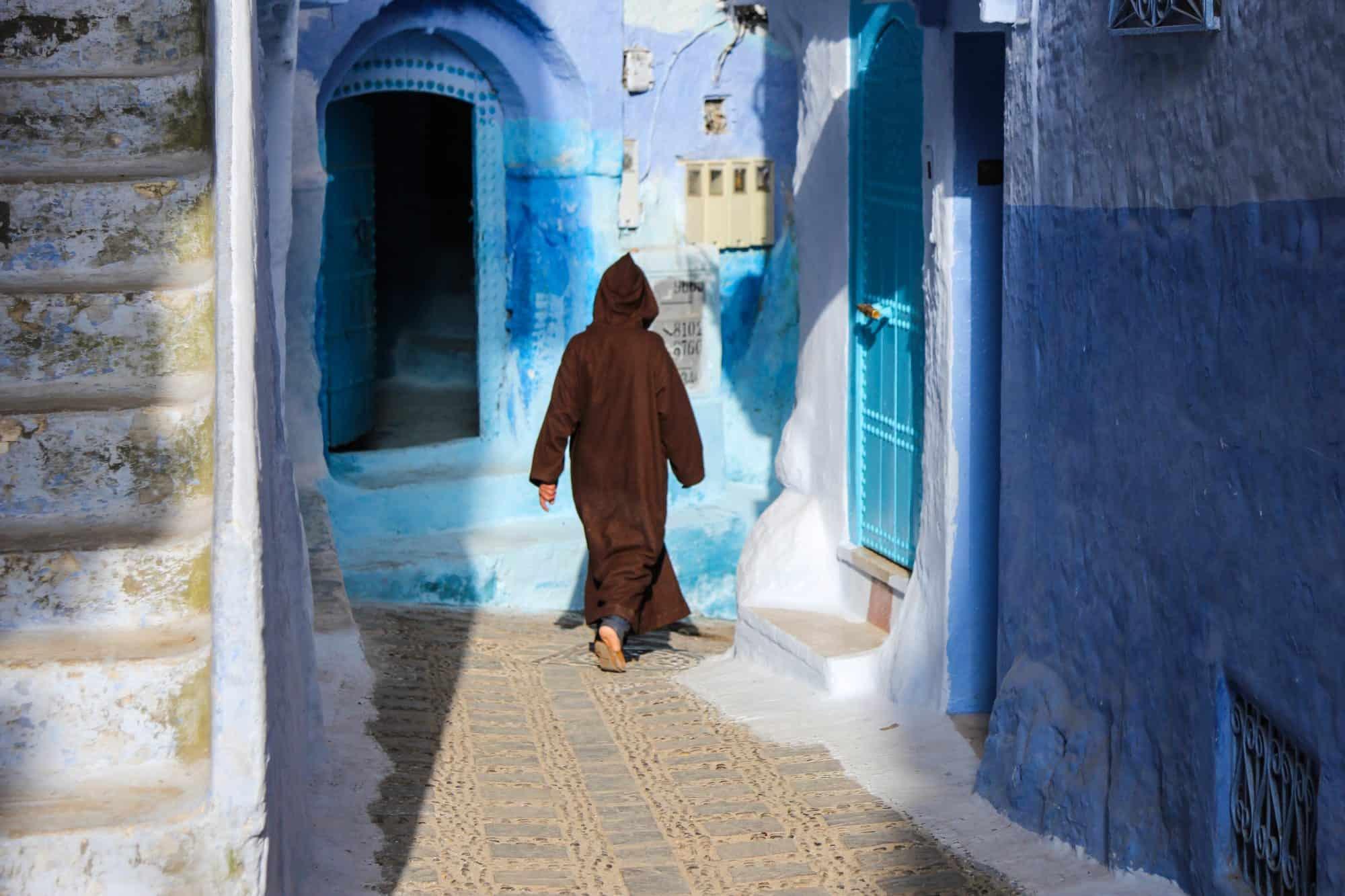 Jellabas Chefchaouen Morocco Blue City