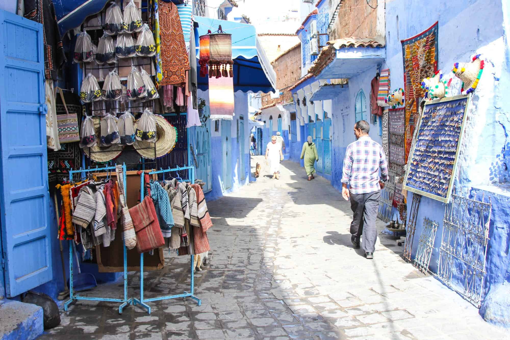 Street Markets Chefchaouen Morocco Blue City