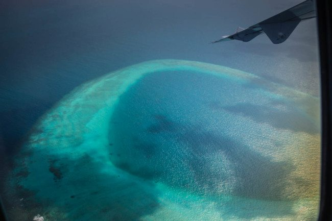 Maldives Photos Airplane View