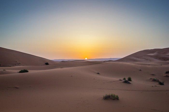 Sunrise Sahara Desert Morocco