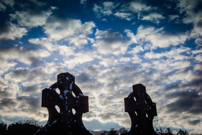 Celtic Crosses Glengalough Ireland