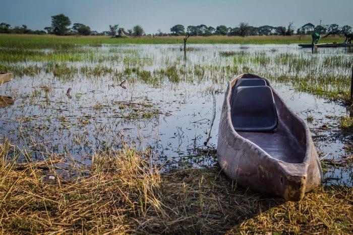 Okavango Delta Mokoro Canoe Botswana