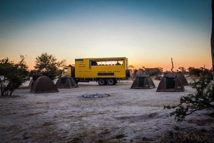 Elephant Sands Camping Botswana