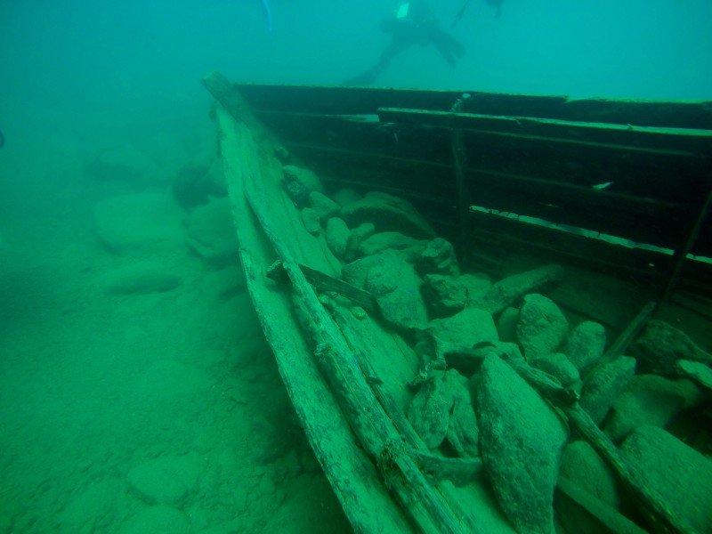 Sunken Boat Lake Malawi Scuba Diving