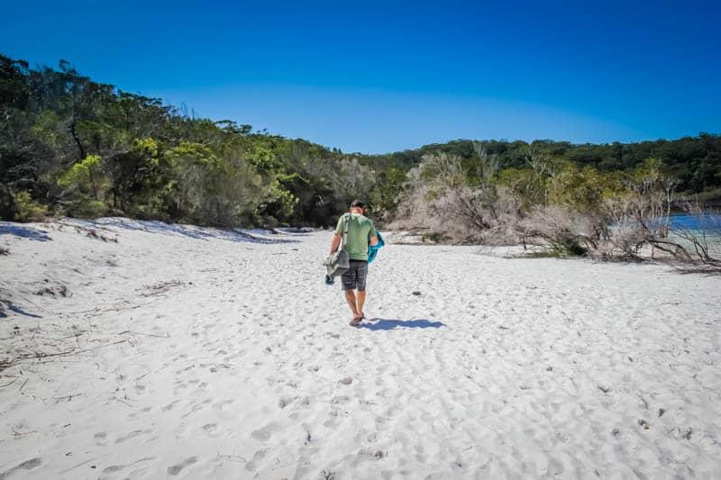 Lake Birrabeen Fraser Island Australia