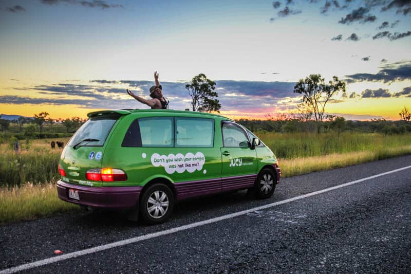 Adventure Bucket List - Jucy campervan Australia