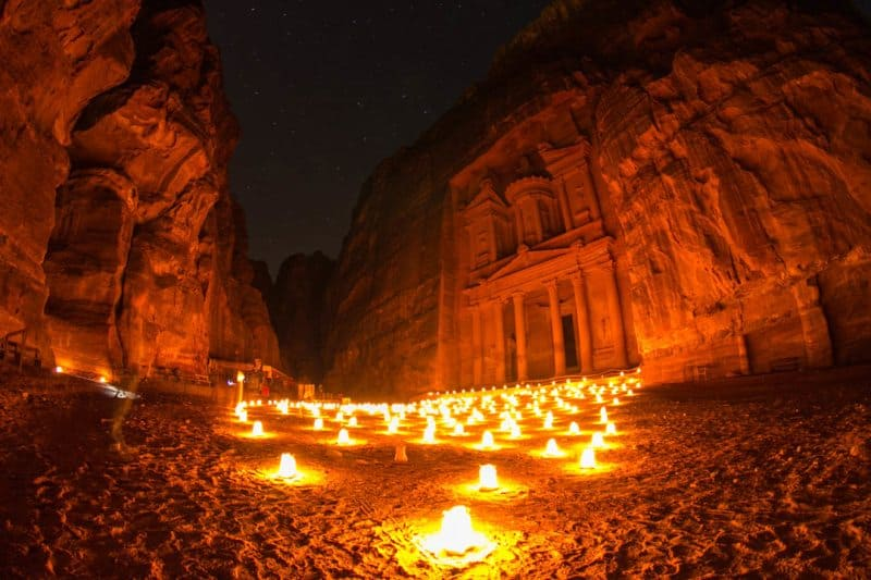 Treasury Petra by Night Jordan