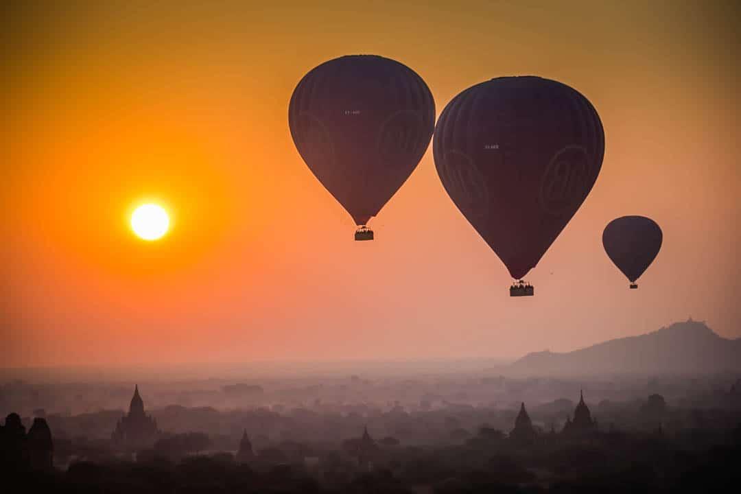 Hot Air Balloon Bagan Temples Myanmar