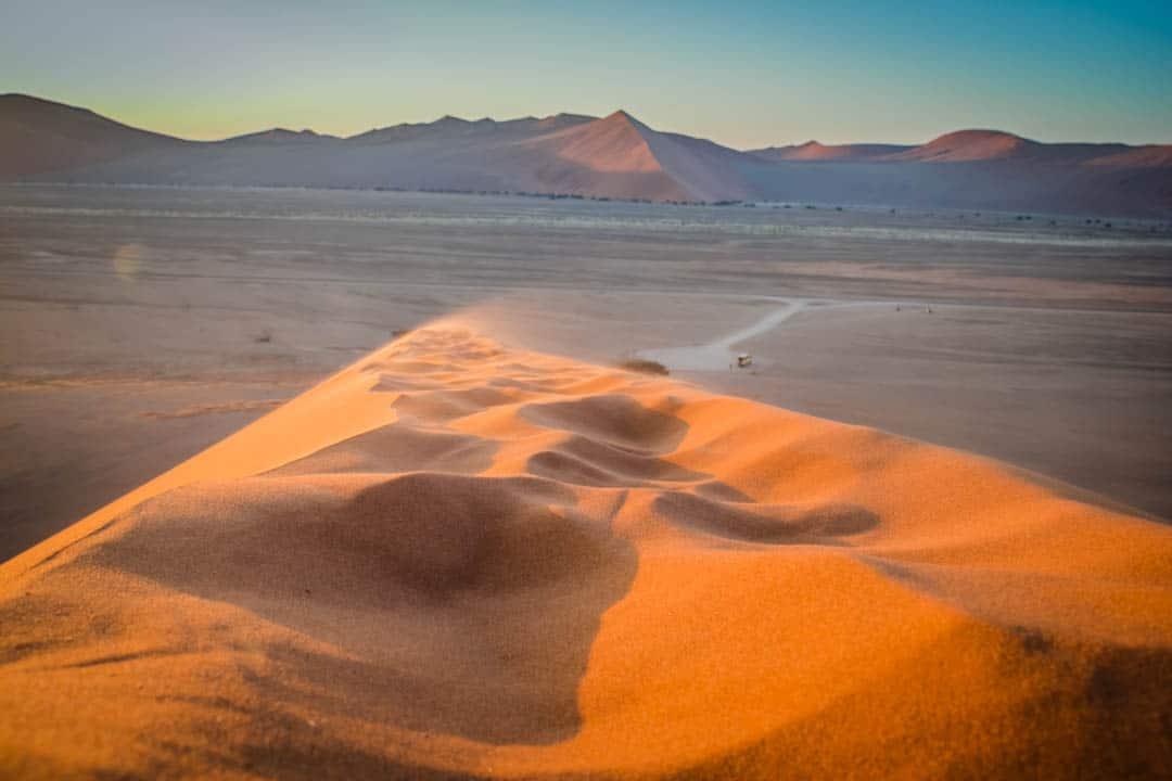 Dune 45 Namibia desert sunset