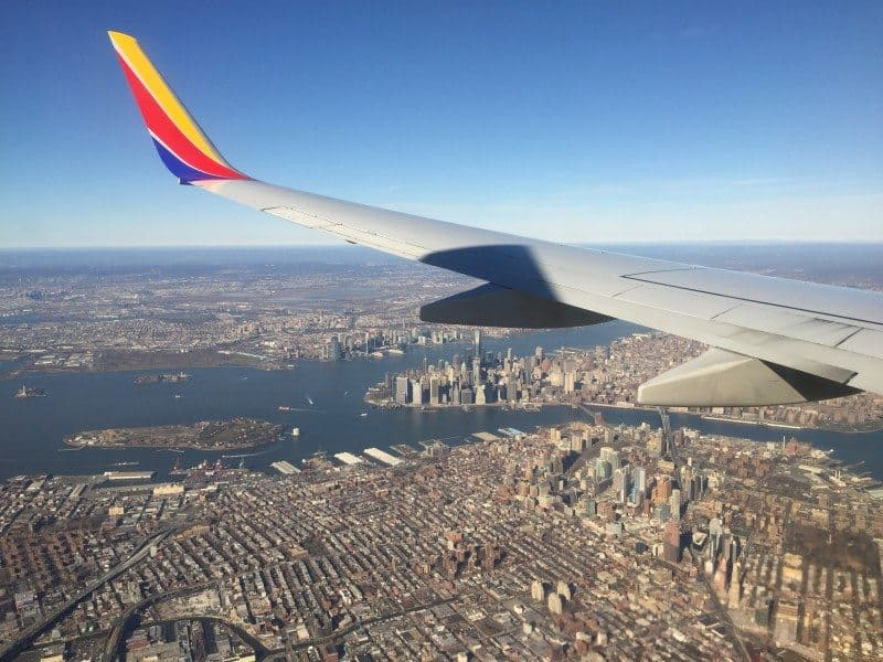 New York City Aerial Southwest Airlines