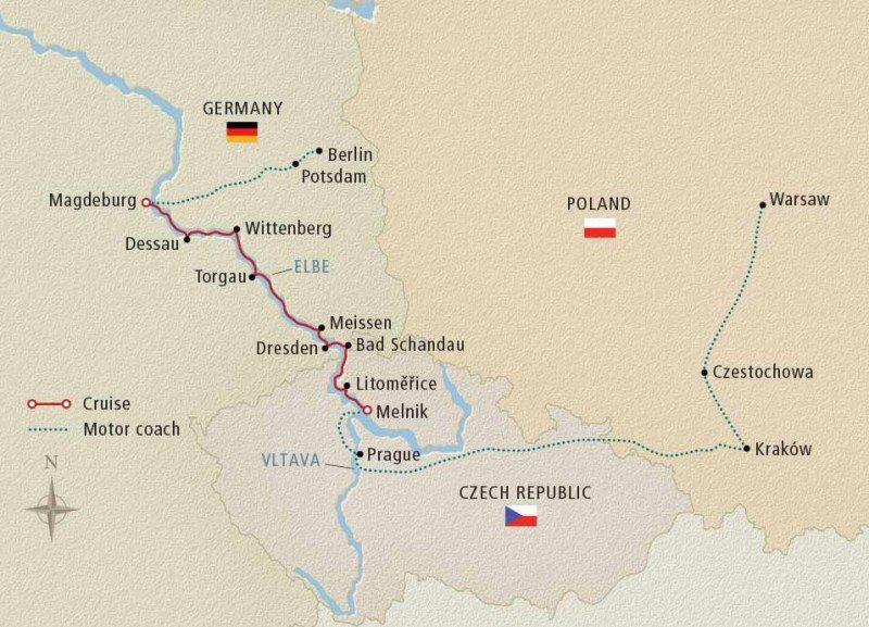 Viking River Cruise Map