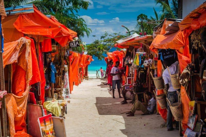 Nungwi Masai Market Zanzibar Tanzania